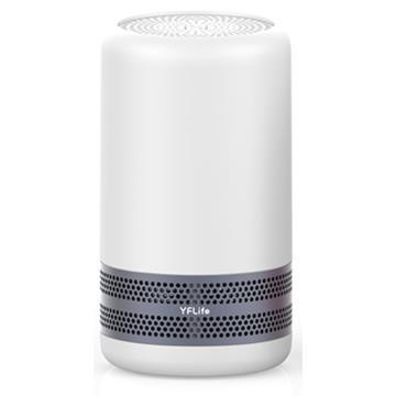 YFlife圓方 奈米光觸媒雙效空氣清淨機-灰