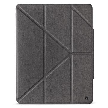 JTLEGEND iPad Pro 12.9吋折疊布紋皮套-灰