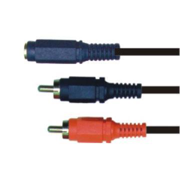 大通3.5mm立體母座轉RCA公頭*2轉接線