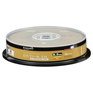 E-books 8X 8.5G DVD+R DL 10片桶裝