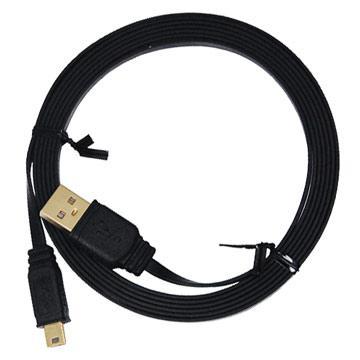 i-gota超薄型USB2.0連接線-A公對Mini5P-2M