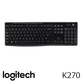 【福利品】羅技 Logitech K270 無線鍵盤