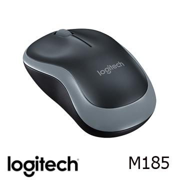 (限定款)Logitech羅技 M185 無線滑鼠 黑灰色(910-002258)