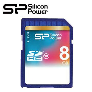 【8G】廣穎 Silicon-Power SDHC C10 SD記憶卡