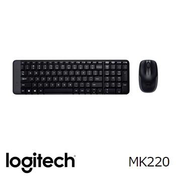 【拆封品】羅技MK220無線鍵盤滑鼠組