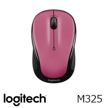 (福利品)羅技Logitech M325 無線滑鼠 沙塵玫瑰紅