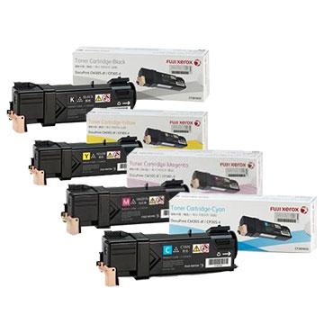 【1黑三彩超值組】Fuji Xerox DP CP305d/CM305df 黑+紅+藍+黃4色碳粉