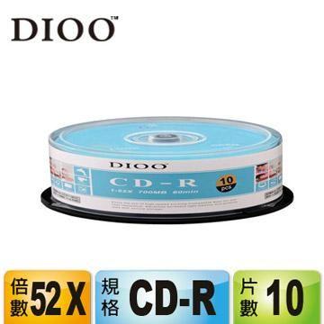 DIOO 海洋版 52X CD-R 10片桶裝