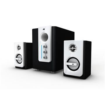 JS淇譽 天籟爵士-全木質三件式多媒體喇叭(白)
