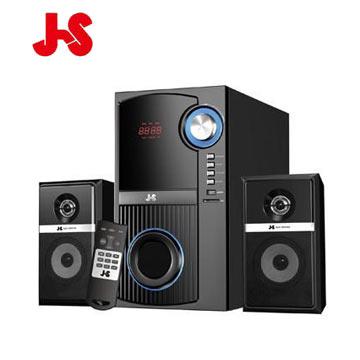 (福利品)JS淇譽 海洋之音-多功能3D全木質3件式2.1聲道三件式喇叭
