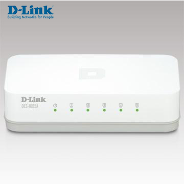 D-Link 5埠10/100Mbps桌上型網路交換器