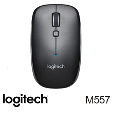 Logitech羅技 M557 藍牙滑鼠 鐵灰黑