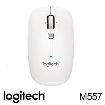 Logitech羅技 M557 藍牙滑鼠 珍珠白