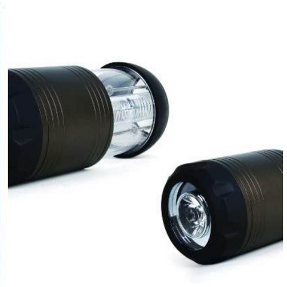 FORA 手電筒兼戶外燈-黑色