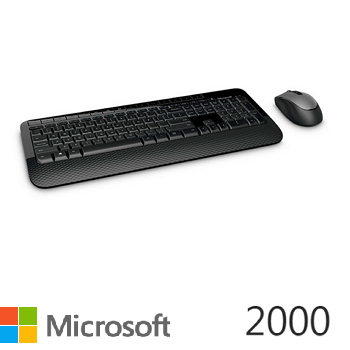 微軟 Microsoft  無線滑鼠鍵盤組 2000