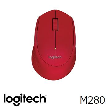 Logitech羅技 M280 無線滑鼠 紅(910-004299)