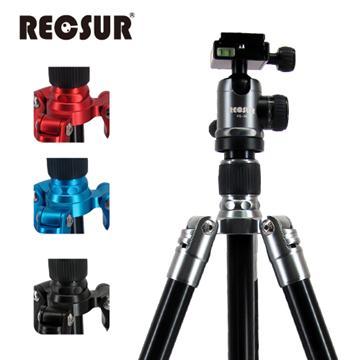 RECSUR 銳攝 五節反折式鋁合金腳架 RS-3255A+VQ-20火辣紅