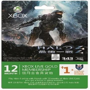 Xbox LIVE 金會員 12+1 個月+Halo 4