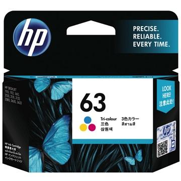 HP 63 彩色墨水匣