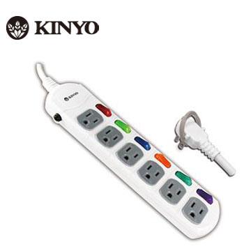 KINYO 6開6插 安全延長線