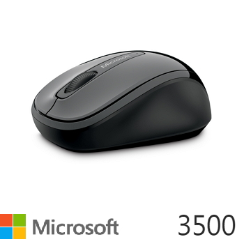 微軟Microsoft 3500 無線行動滑鼠 灰黑
