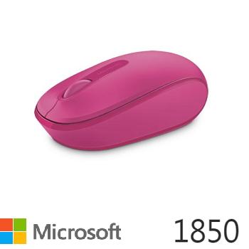 微軟Microsoft 1850 無線行動滑鼠 桃花粉