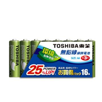 東芝TOSHIBA 無鉛綠3號電池16入