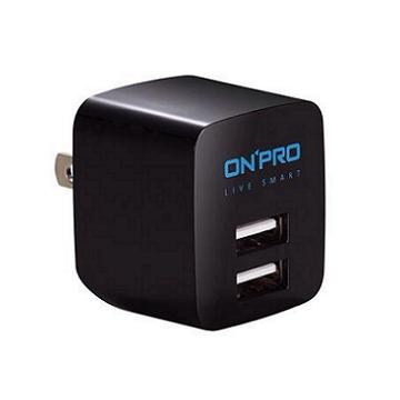 ONPRO USB雙埠電源供應器-黑
