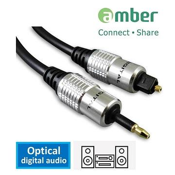 amber S/PDIF 光纖數位音訊傳輸線 mini-1M AT11