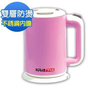 【KRIA可利亞】 雙層防燙1.8公升迷你開水瓶-粉紅