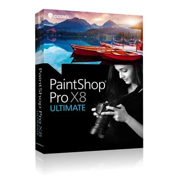 PaintShop Pro X8旗艦版中文盒裝完整版