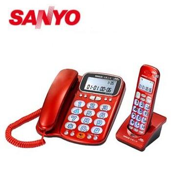 台灣三洋 2.4GHz數位無線話筒增音親子機 DCT-8916