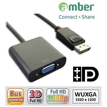 amber 主動式Displayport轉VGA轉換器/線材 DPV-02