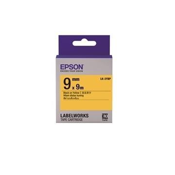 EPSON LK-3YBP粉彩系列黃底黑字標籤帶