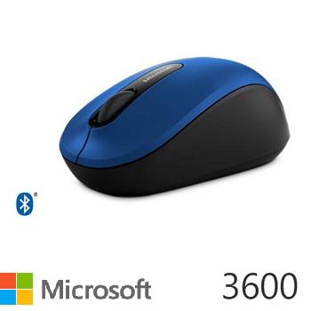 微軟Microsoft 3600 藍牙行動滑鼠 藍