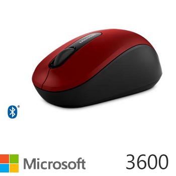 微軟Microsoft 3600 藍牙行動滑鼠 紅