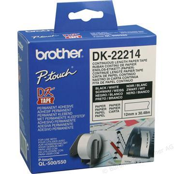 Brother DK-22214耐用型紙質連續標籤帶卡匣
