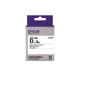 EPSON LK-2WBN Common系列白底黑字標籤帶