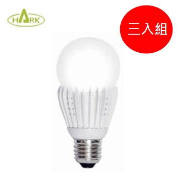 (三入組) HARK 10W三段調光LED電燈泡 黃光