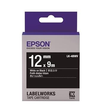EPSON LK-4BWV黑底系列黑底白字標籤帶