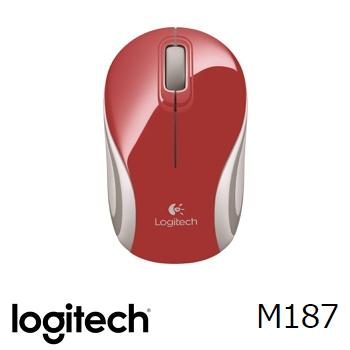 羅技 Logitech M187 無線迷你滑鼠 - 紅