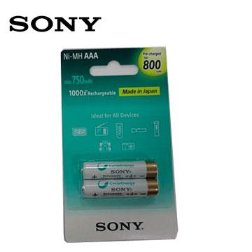 SONY新型低自放充電電池4號2入(800mAh)