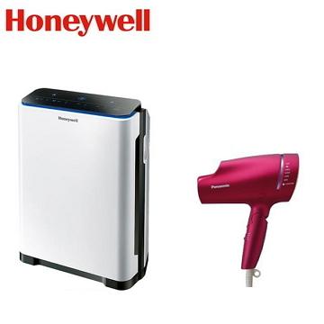 (組合)Honeywell 5-10坪智慧淨化抗敏空氣清淨機 + Panasonic奈米水離子吹風機  EH-NA9B-RP