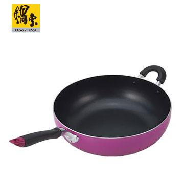 鍋寶日式不沾炒鍋32cm-粉紅