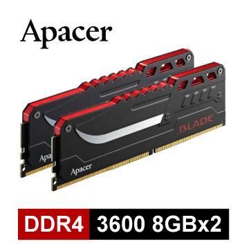 【16G (8GX2)】Apacer DDR4 3600 超頻記憶體