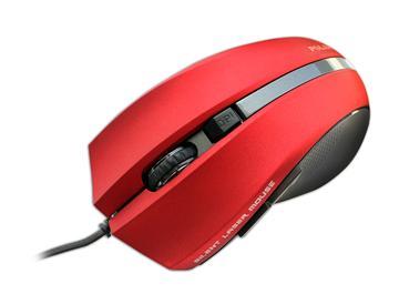 Polar PLM-338有線雷射靜音滑鼠-紅