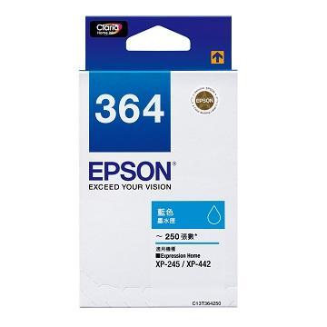 愛普生EPSON 364 藍色墨水匣 C13T364250