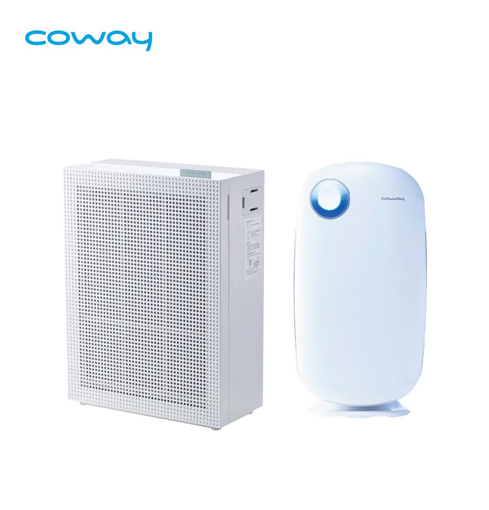 Coway 抗敏玩美組 加護抗敏型空氣清淨機 + 綠淨力玩美雙禦空氣清淨機