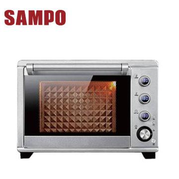 【福利品】聲寶38L電子雙溫控旋風油切烤箱