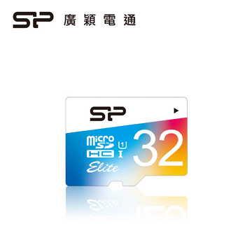SP廣穎 Elite MicroSD U1 32G彩色記憶卡
